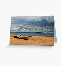 Storm out to sea Greeting Card