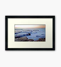 sunrise, Newcastle Au Framed Print