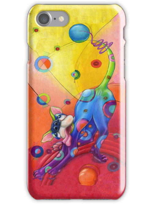 Topsy Turvy Trip I phone case, by Alma Lee by Alma Lee