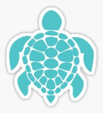 Teal Turtle Sticker