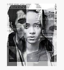 rihanna by nick byer Photographic Print
