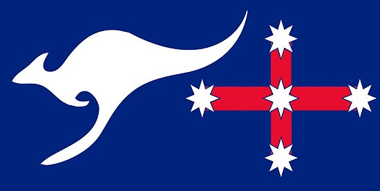 new australian flag design afl1 posters by vookoo redbubble