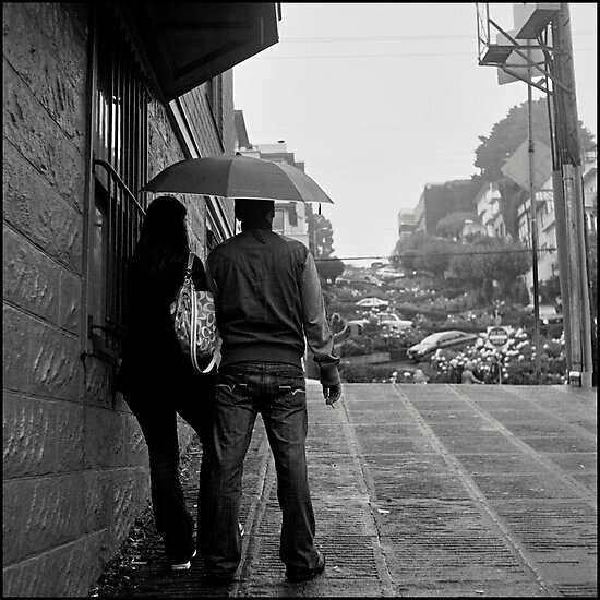 Lombard Street Rainy Day #1 by Patrick T. Power