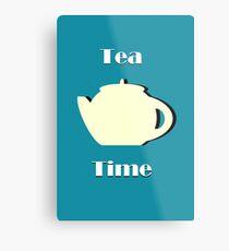 Tea Time (Minimalist) Metal Print