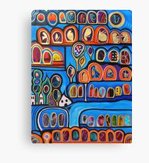 Ribbon Town Canvas Print
