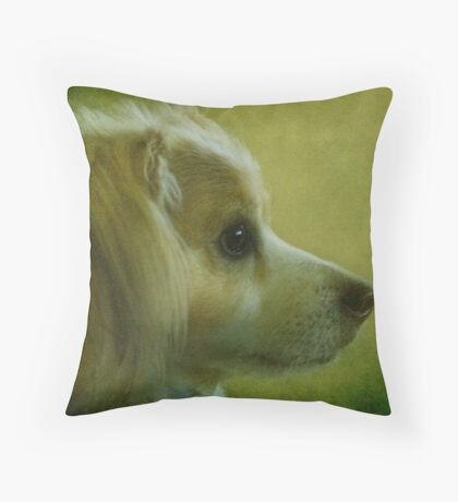 A little dog called Harry Throw Pillow