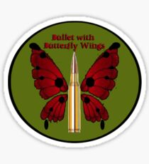Bullet with Butterfly Wings Sticker