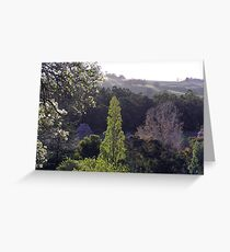 Pear Tree & Valley - Robert Mann Greeting Card