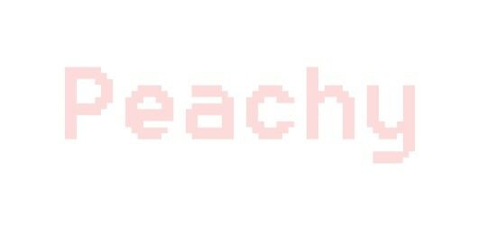 Peachy - Pixellated  by bubblinee