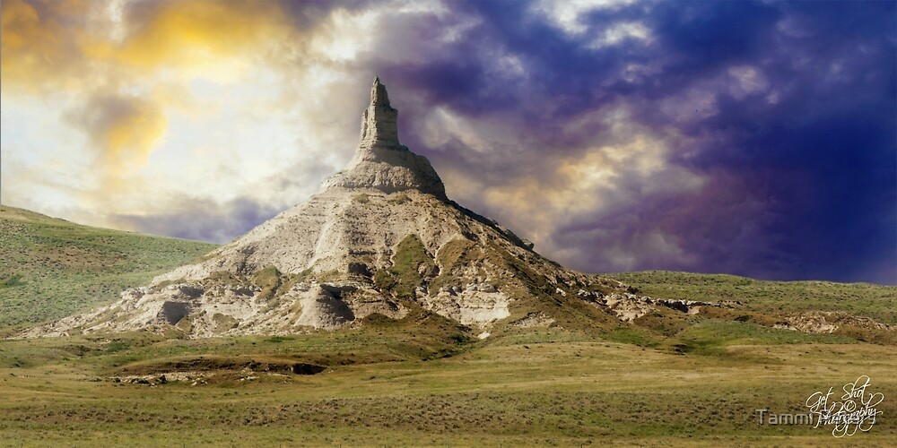 Chimney Rock after the Storm by Tammi Peters
