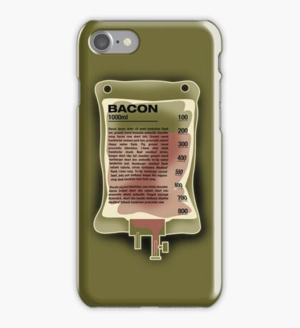 Intravenous Bacon iPhone Case/Skin