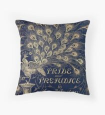 Pride and Prejudice Peacock Cover Throw Pillow