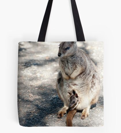 Peekaboo - Mareeba rock wallaby Tote Bag