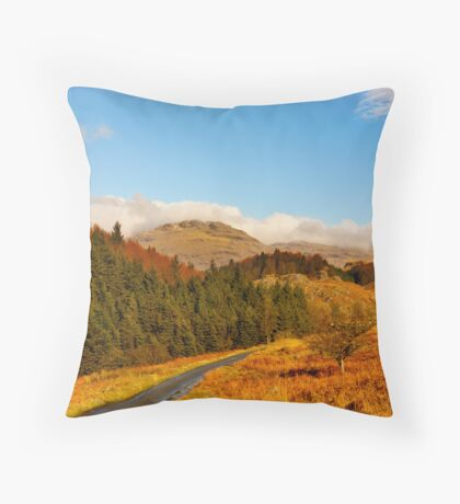 Duddon Valley Autumn Throw Pillow