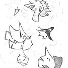 Doodle Heads by phrebh