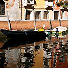Canal Reflections . Venice by Barbara Wyeth