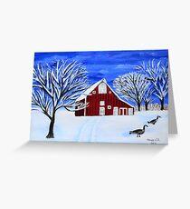 Calm Winter Greeting Card