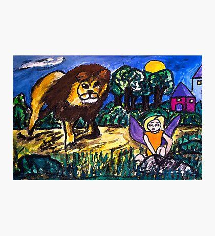 Lion Fear Photographic Print
