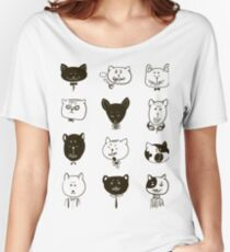 Set of cats heads.  Women's Relaxed Fit T-Shirt