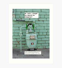 SPOCK TALKS TO MR. SCOTT Art Print