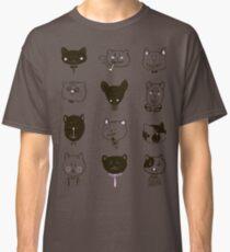 Set of cats heads Classic T-Shirt