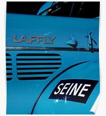 Camion bleu Poster