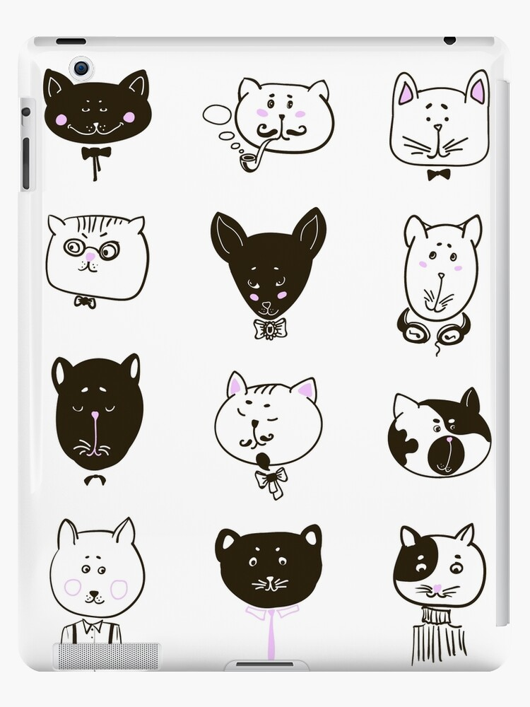 Set of cats heads by OlgaBerlet
