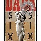 Dada Tarot- Six of Swords by Peter Simpson