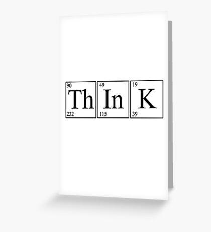 Think! (light version) Greeting Card