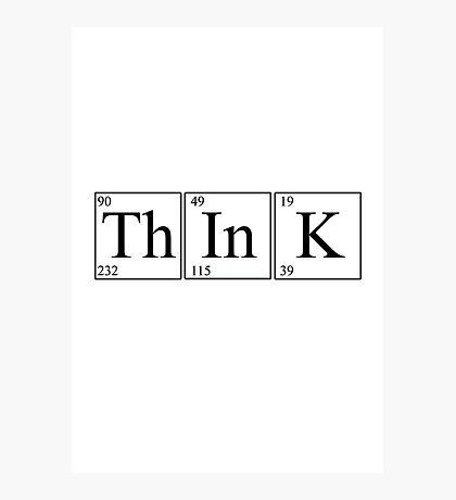 Think! (light version) Photographic Print