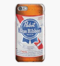 Pabst Blue Ribbon Bottle iPhone Case/Skin