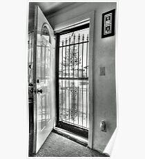 The open Door-B&W version Poster