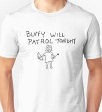 Camiseta ajustada Buffy Will Patrol esta noche