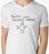 Buffy Will Patrol Tonight Men's V-Neck T-Shirt