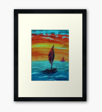 I wanna be here!! watercolor Framed Print