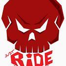 SKULL: JUST RIDE (Red Skull)  by creativeburn