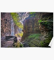 Light Infused Waterfall at Watkins Glen Poster