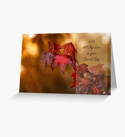 Autumn sensation Greeting Card