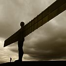 Angel of the North by domediart