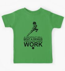 Rock Lee - A Dropout Will Beat A Genius Through Hard Work [Black]    Gym Gear Kids Tee