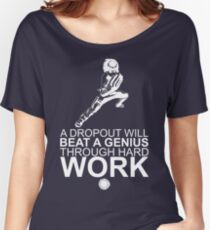 Rock Lee - A Dropout Will Beat A Genius Through Hard Work - White Women's Relaxed Fit T-Shirt