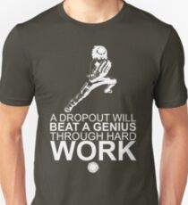 Rock Lee - A Dropout Will Beat A Genius Through Hard Work - White T-Shirt