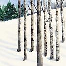 Watercolor 1_Snowy Hillside by Diane Johnson-Mosley