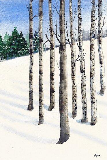 Watercolor 1_Snowy Hillside by Diane Johnson-Mosley