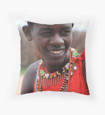 Maasai Warrior Throw Pillow