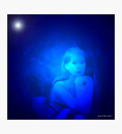 Woman in Blue Photographic Print