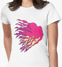 Girl with flame like hair Women's Fitted T-Shirt