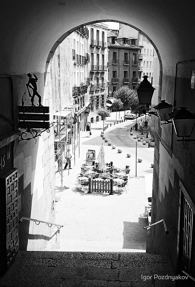 Archway - Exit from the Plaza Mayor, Madrid. 2004 by Igor Pozdnyakov