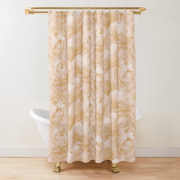 Apricot Spearwort pattern Shower Curtain
