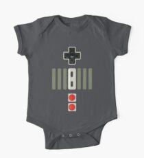 Body de manga corta para bebé Presiona mis botones